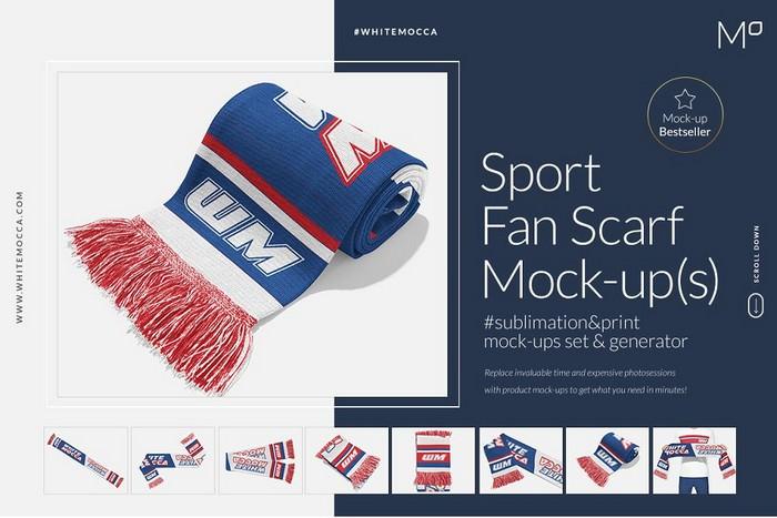 Sports Fan Scarf Mock-ups