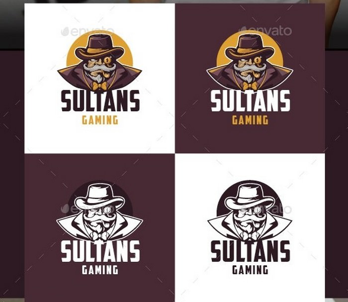 Sultans Gaming Logo Template
