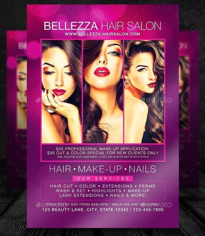 Super Hair Marketing Flyer Template