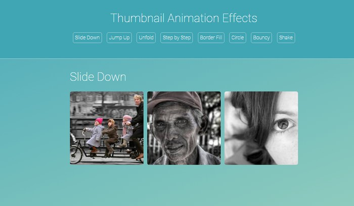 Thumbnail Animation Effect