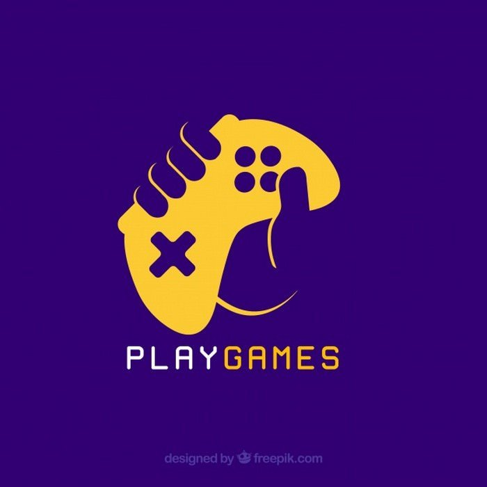 Video Game Logo Template With Joy Stick