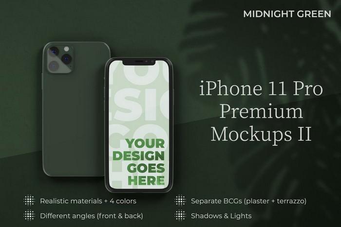 iPhone 11 Pro Mockup Premium Templates II