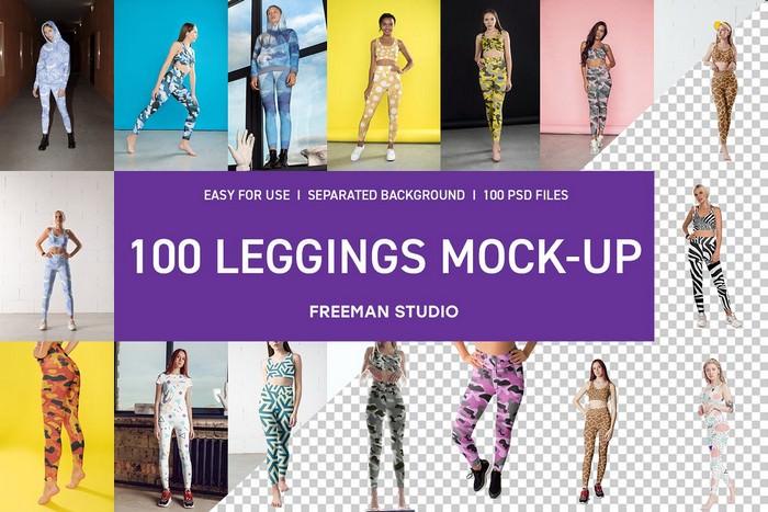 100 Leggings Mock-Up Set