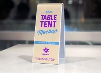 Sided Plastic Table Tent Mockup