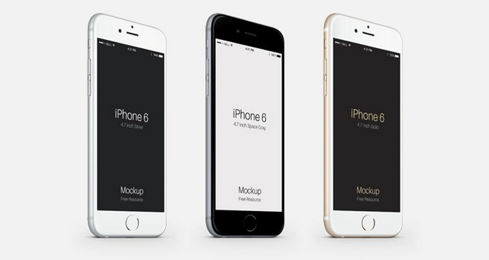 3-4 iPhone 6 Psd Vector Mockup