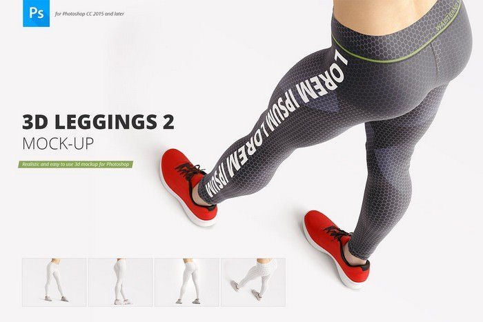 3D Top View Mock-up Set gym wear