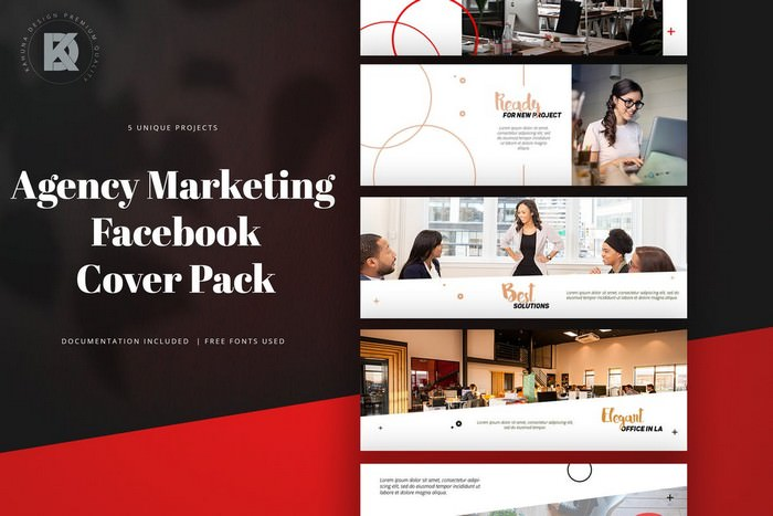 Agency Marketing Facebook Cover Pack
