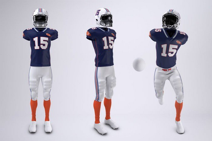 American Football Uniform Mock-Up