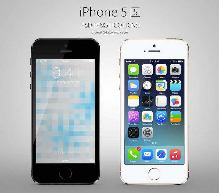 Apple iPhone 5S PSD