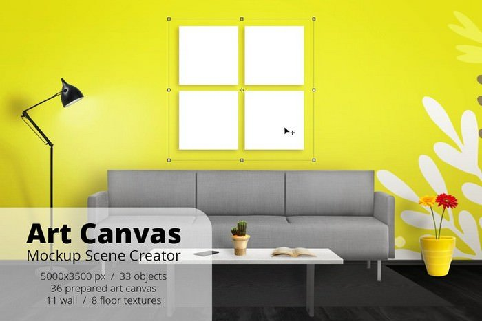 Art Canvas Mockup Scene Creator