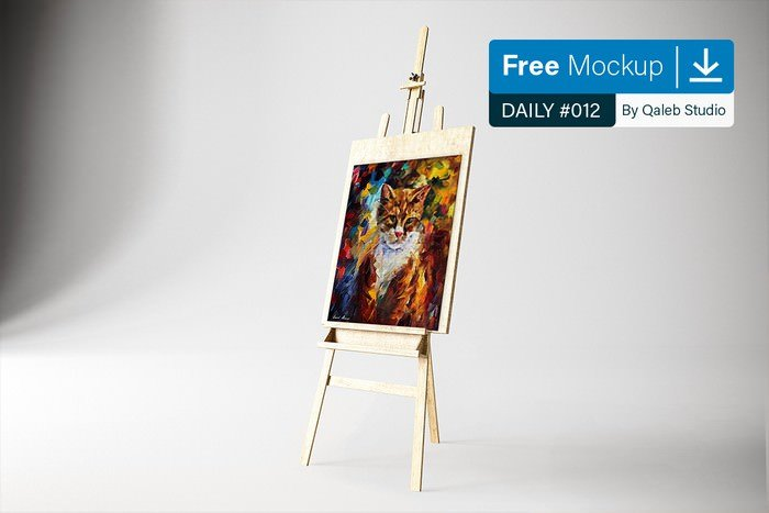 Art Canvas in studio Mockup