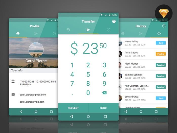 BankTag - Free Material UI Kit