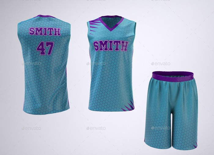 Basketball Jersey and Shorts Uniform Mock-Up