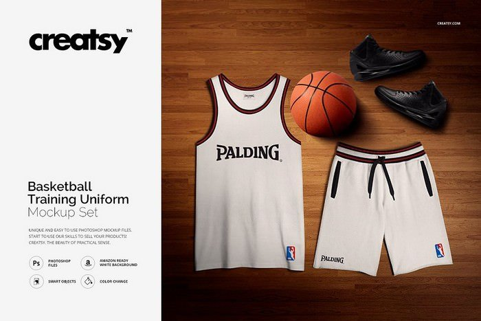 Basketball Training Uniform Mockup