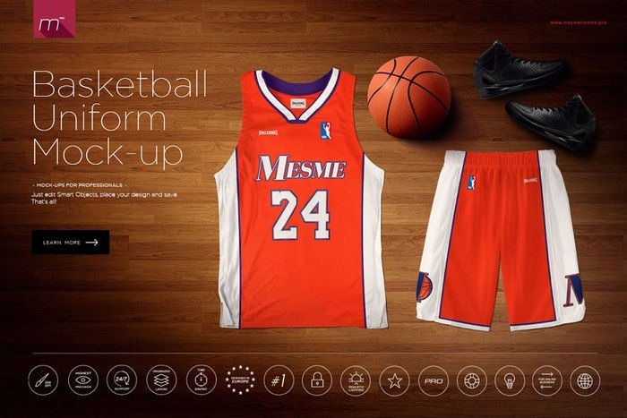 Basketball Uniform Mock-up