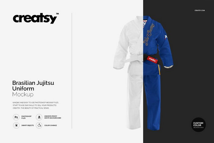 Brasilian Jiu Jitsu dress Mock-up
