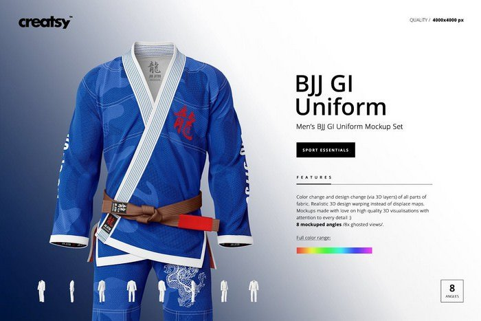 Brazilian Jiu Jitsu GI Mockup