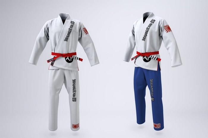 Brazilian Jiu-Jitsu Gi Uniform Mock-up