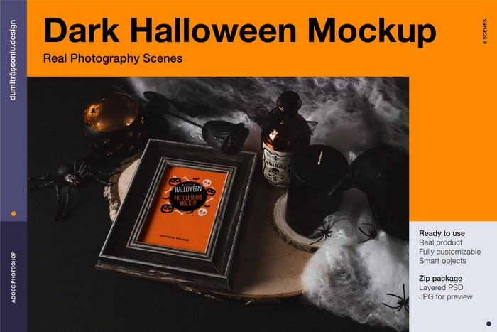 Dark Halloween Mockup