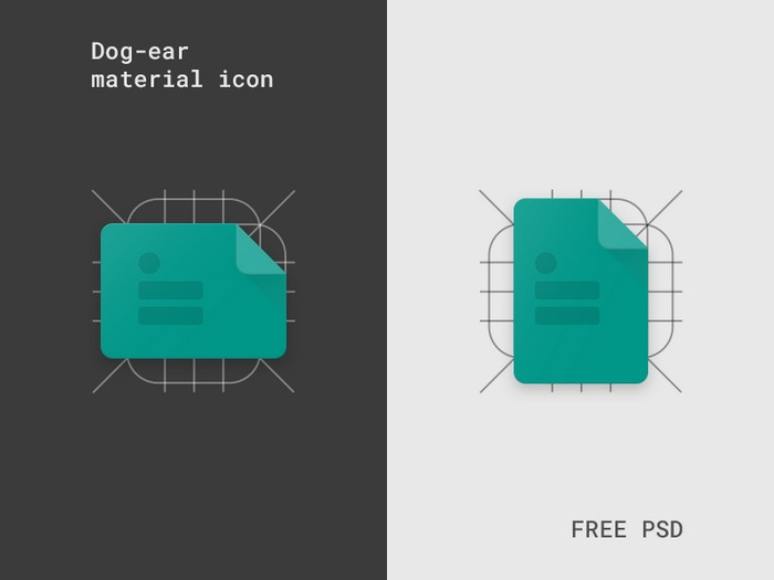 Dog-ear Material icon Template