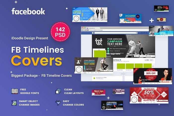 Facebook Timeline Covers - 142 PSD