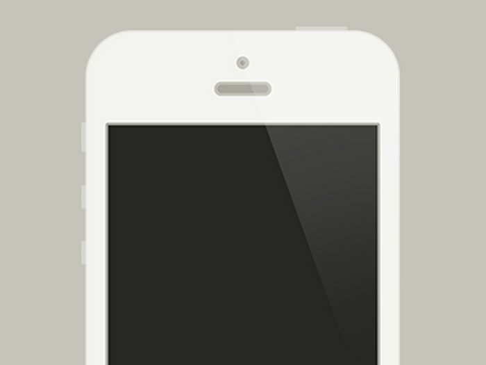 Flat white iPhone 5