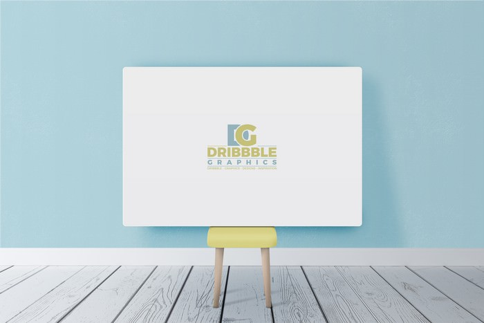 Free Beautiful Horizontal Poster Canvas Mockup
