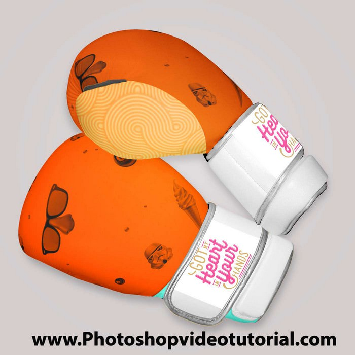 Free Boxing Glove Mock-up