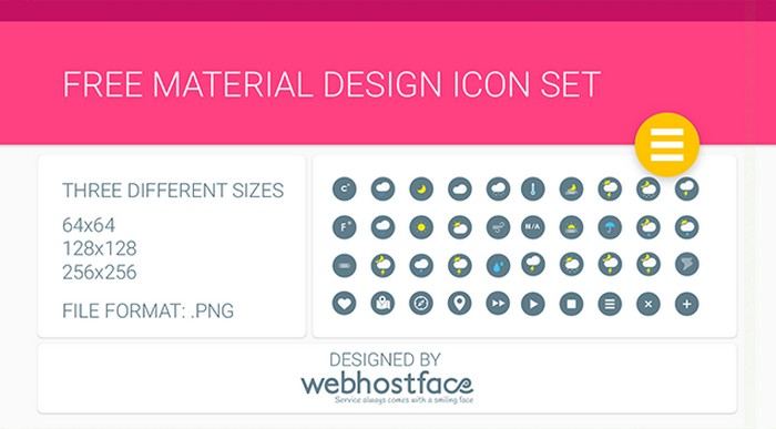 Free Google Material Design Icons Set
