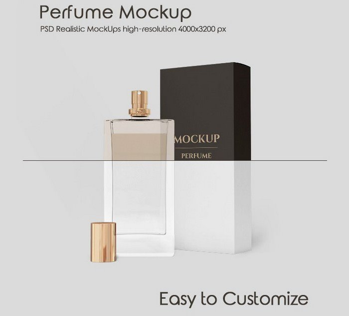 Free Fragrance Mock-up In PSD