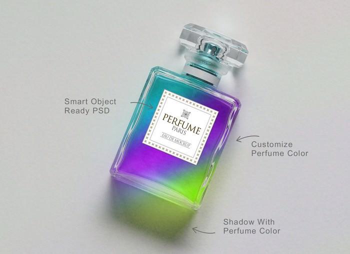 Scent Perfume Mockup PSD