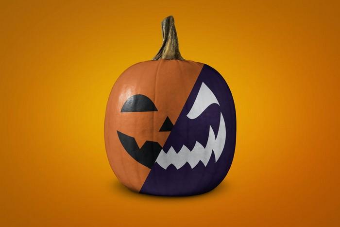 Halloween Pumpkin Mockup PSD
