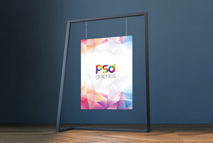 Hanging Canvas Mockup Free