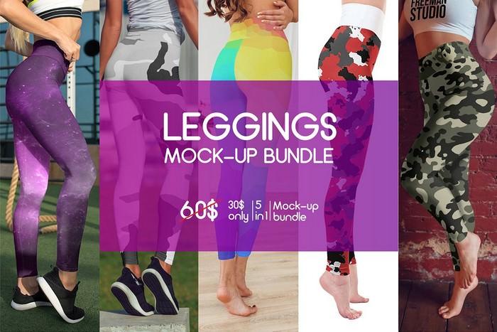 Leggings Mock-Up Bundle