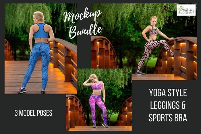 Leggings Sports Bra Mockup Bundle 2