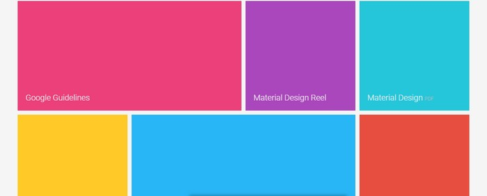 Material Design (CSS-based) - Tiles