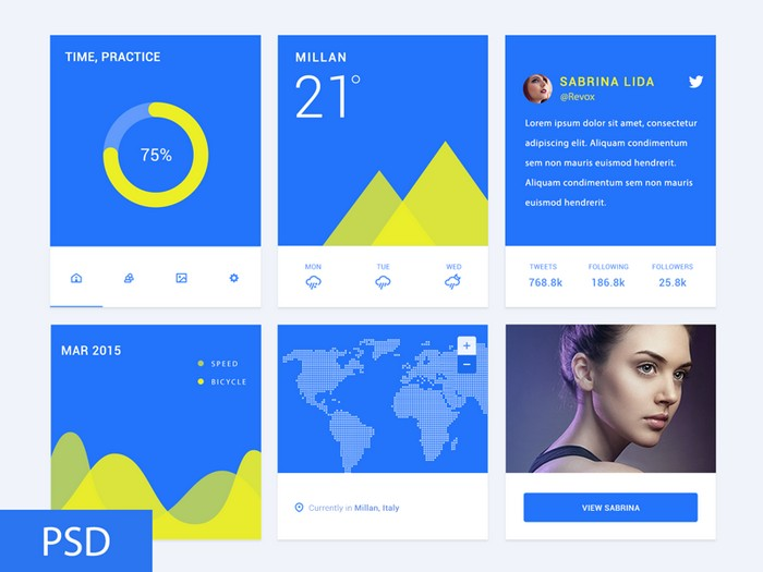 Material Design Freebie PSD