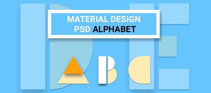 Material Design Psd Alphabet