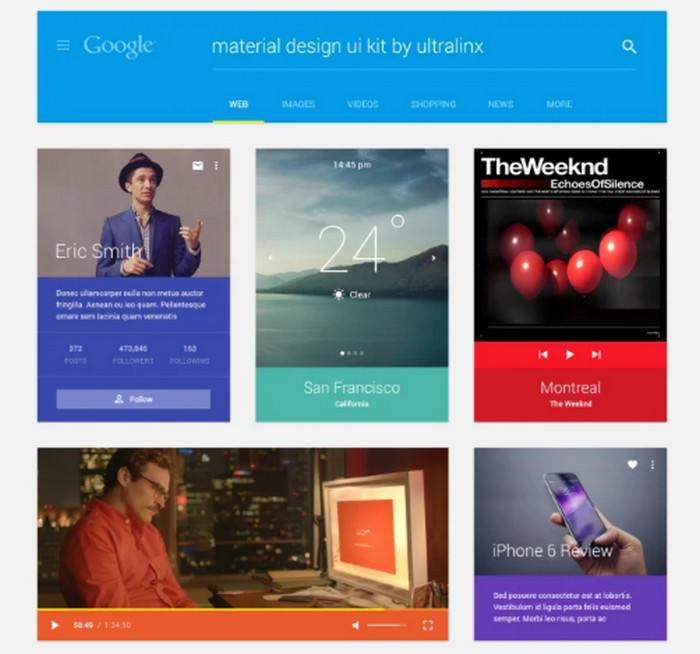 Material Design UI Kit Free