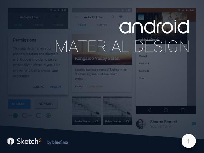 Material Design sketch