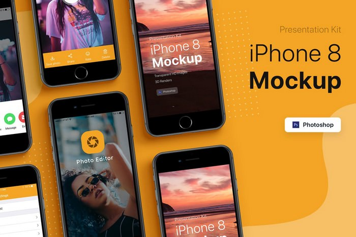 Presentation Kit - iPhone showcase Mockup