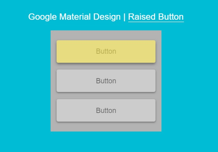 Raised Button With ink Effect