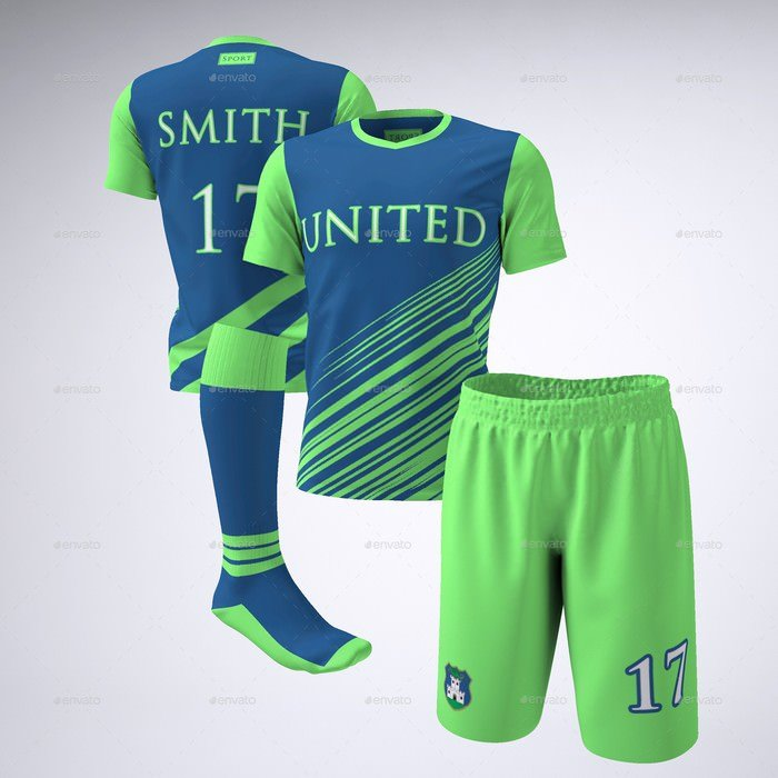 Soccer Football Team jersey Mock-Up