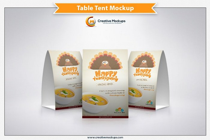 Table Tent Mockup Template