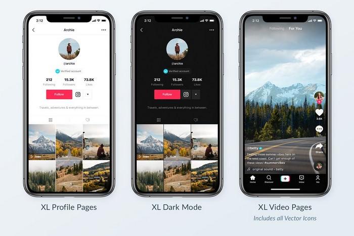 TikTok Mobile Mockups Pack