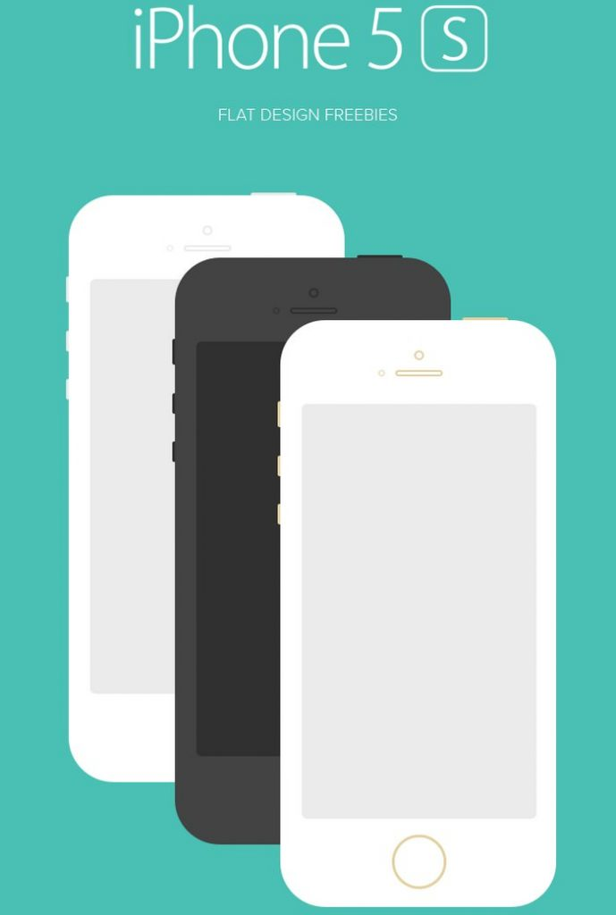 iPhone 5S Flat Design(PSD)
