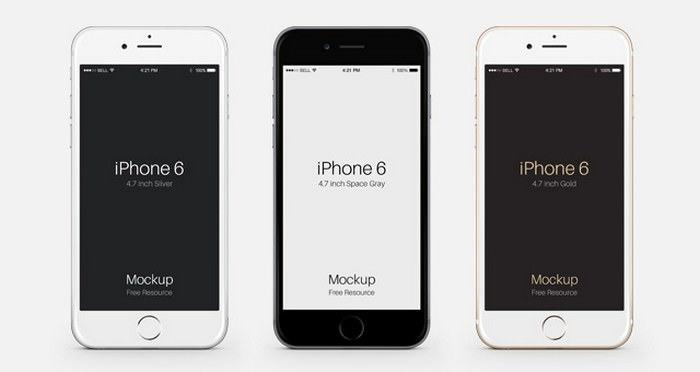 iPhone 6 Psd Vector Mockup