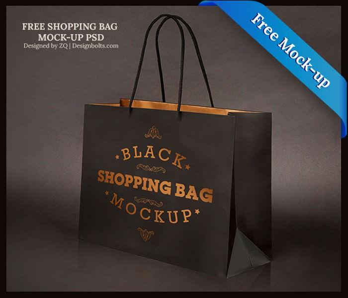 Free Black Branding PSD template