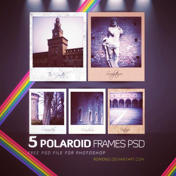 Free Polaroid Frames PSD