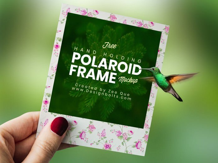 Polaroid Photo Frame Mockup